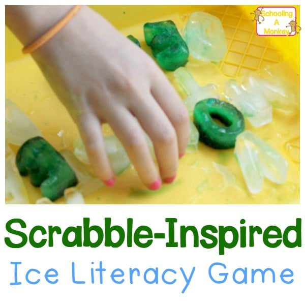 DIY Ice Scrabble- Icey Game for Kids!
