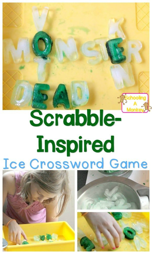 Learn how to make your own scrabble game whirh an ice Scrabble game using actual ice letters! It's easy to make this icy game for kids!