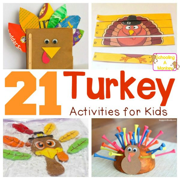 21 Adorable Turkey Craft Ideas for Preschool and Elementary