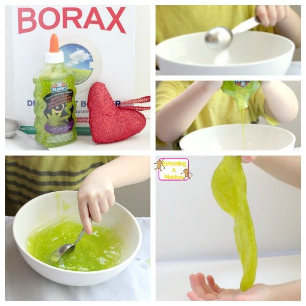 Looking for Christmas activity ideas to go along with How the Grinch Stole Christmas? Make this super-easy, sparkly Grinch slime and add science to the fun.
