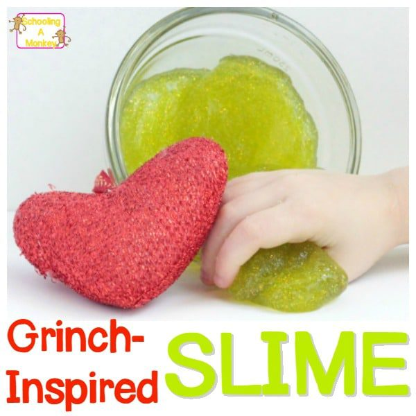 DIY Glittery Grinch Slime Recipe for Christmas Magic!