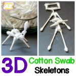 Halloween Science: Build a Cotton Swab Skeleton
