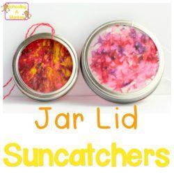 Mason Jar Lid Crafts: Super-Simple Melted Crayon Suncatchers