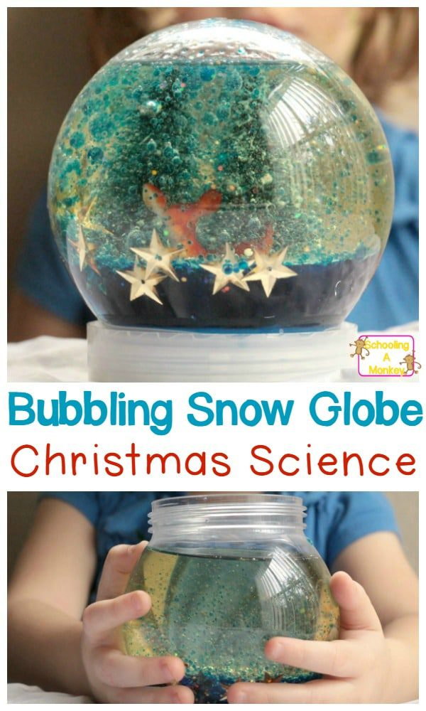 Don't just make boring snow globes, make exciting ones! Make your Christmas a chemistry Christmas with this DIY bubbling snow globe!