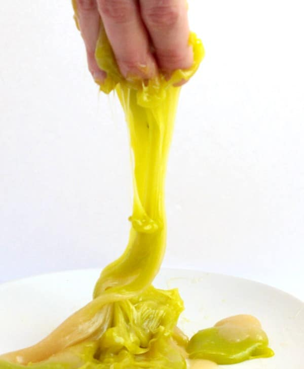 Making candy is a fun way to explore chemistry in the kitchen. Try these fun candy chemistry experiments making edible taffy slime. Kids will love it!