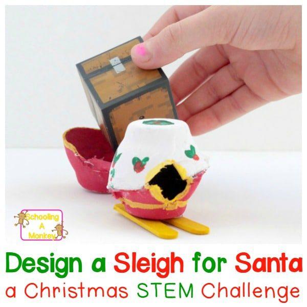 Santa's Sleigh STEM Challenge for Elementary