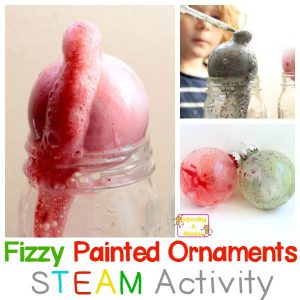 Christmas STEM: Baking Soda and Vinegar Fizzing Christmas Ornaments