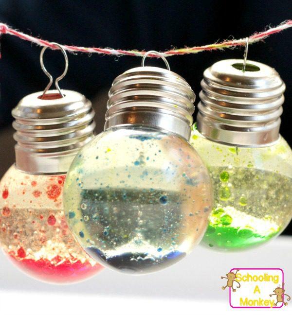 diy christmas bubble lights