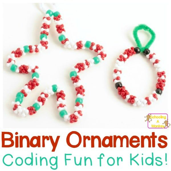 How to Make Binary Code Christmas Ornaments