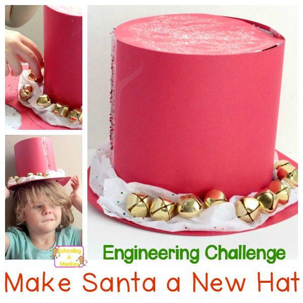 DIY Kids Christmas Hat Engineering Challenge
