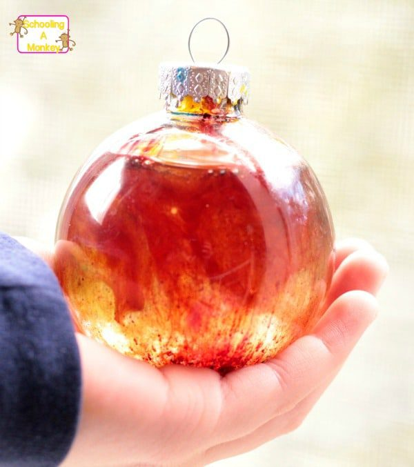 Science in a Bottle: Galaxy Christmas Ornaments