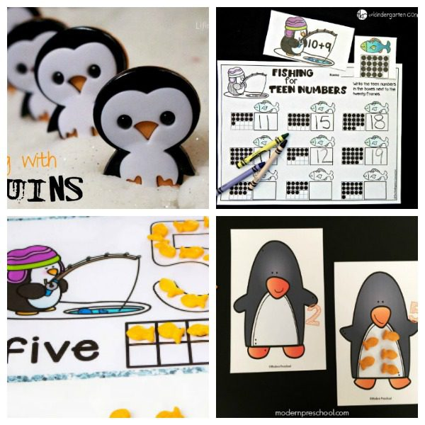 These penguin math and counting penguin activities help teach counting and math to preschoolers and kindergarteners. Perfect for the classroom and homeschool!