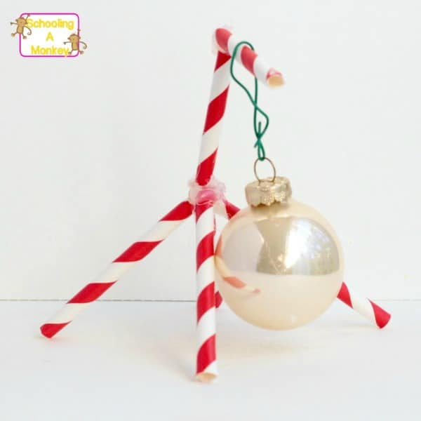 Preschool Christmas activities are a blast, especially when they are engineering themed! Preschoolers will love making a holder for Christmas ornaments.