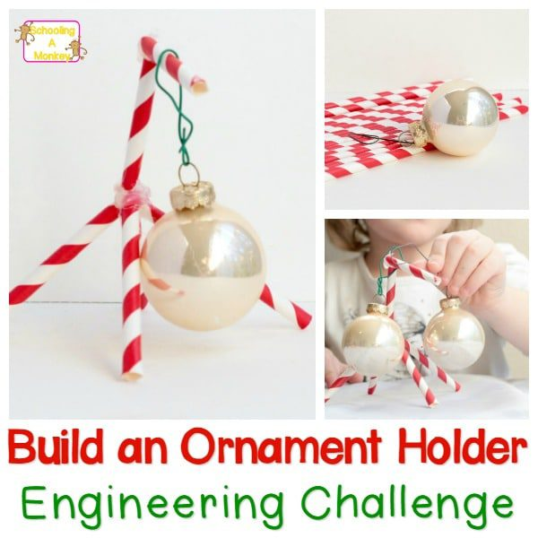 Preschool Christmas Activities: Build an Ornament Holder