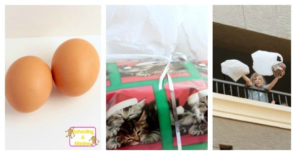"Find out why packing presents is important in these fun Christmas-themed STEM enrichment activities where kids try not to break egg ""presents."""