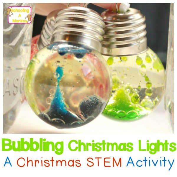 Love Christmas? Love science? Combine the two and make these homemade Christmas bubble lights for pretty, holiday fun!