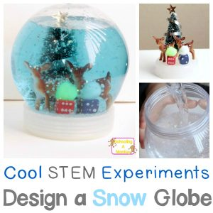 Cool STEM Experiments: Design a Christmas Snow Globe