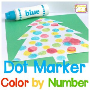Christmas Color by Number: Dot Marker Color by Number