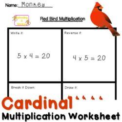 Fun Multiplication Worksheets: Red Bird Multiplication