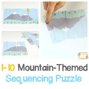 Mountain-Themed Sequencing Puzzle Printable for Early Learners
