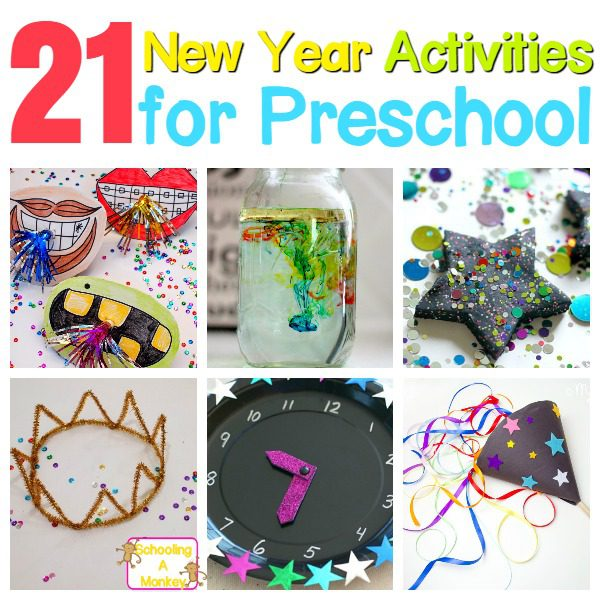 Preschoolers are too young for many New Year festivities, but they can celebrate a new year safely using these New Year activities for preschool.