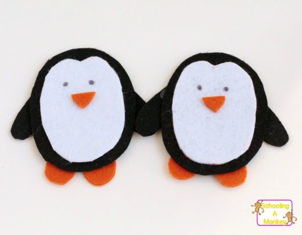 This fun felt penguin dress up is a fun winter-themed busy bag that will provide hours of penguin activities for toddlers and preschoolers.