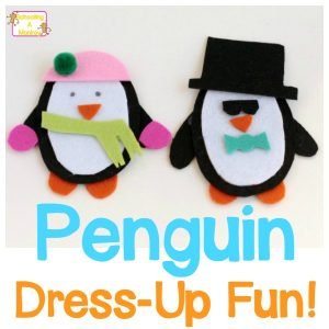 Penguin Activities: Felt Penguin Dress Up Busy Bag