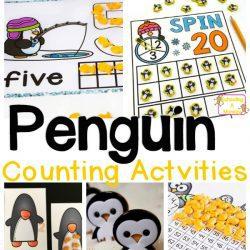 Penguin Math and Counting Activities for Preschool and Kindergarten