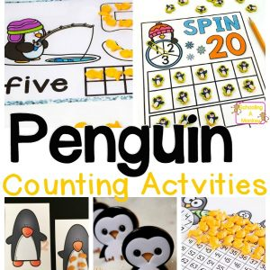 Penguin Math and Counting Activities for Preschool and Kindergarten