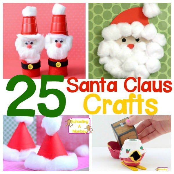Don't miss these Santa Claus crafts for kids of all ages! Santa crafts are so fun for preschool, elementary school, or home!