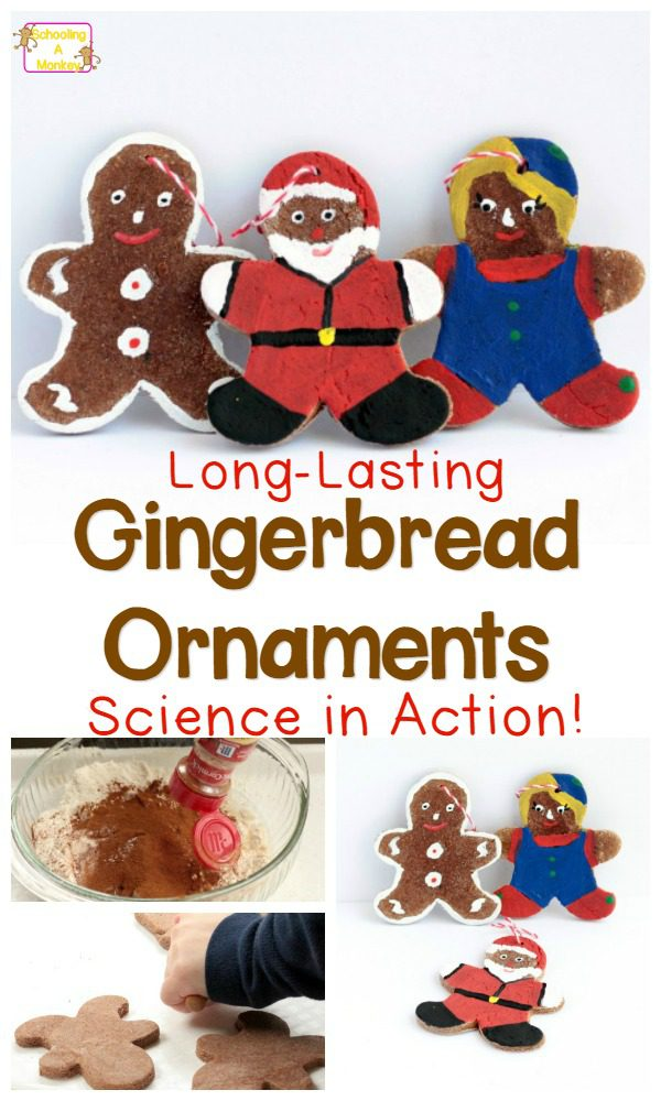 When it comes to science Christmas ornaments, nothing is more fun than making your own! These gingerbread ornaments are perfect for science-lovers.