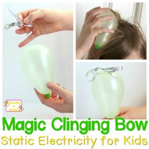 Static Electricity for Kids: Magic Clinging Tinsel Bow