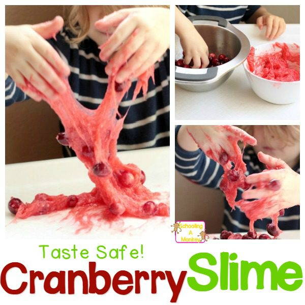 Thanksgiving Science: Taste-Safe Cranberry Slime