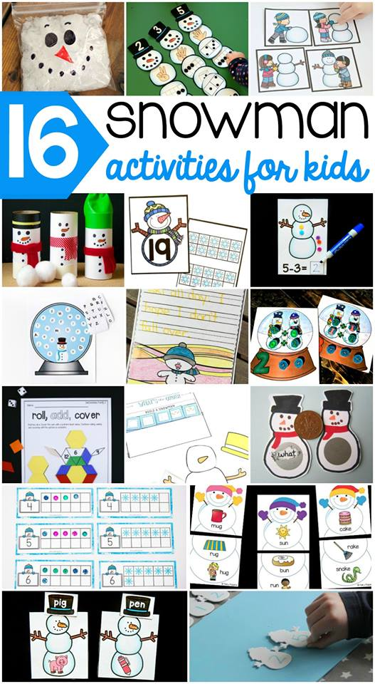 Winter is the perfect time to learn with snowmen! Preschoolers will love these snowman printables and teachers will love how they are print and go!