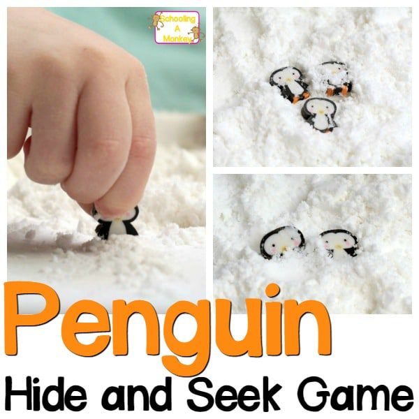 Snowy Hide and Seek Penguin Preschool Activities