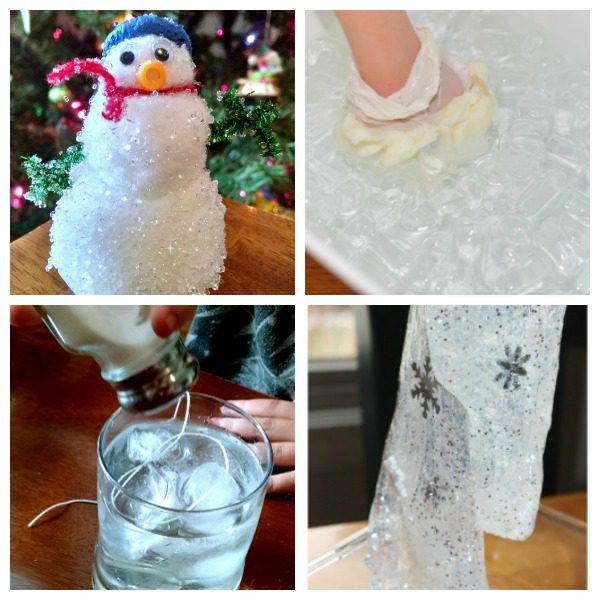 When it's cold outside, try these fun winter science experiments to learn a little bit more about the season! Science experiment ideas for all ages!