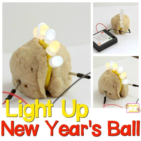 Light Up New Year's Ball Craft: New Year's STEM!