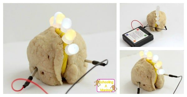 Kids will have a blast lighting up their very own circuit New Year's ball craft made out of Squishy Circuits! It's a fun way to ring in the new year!