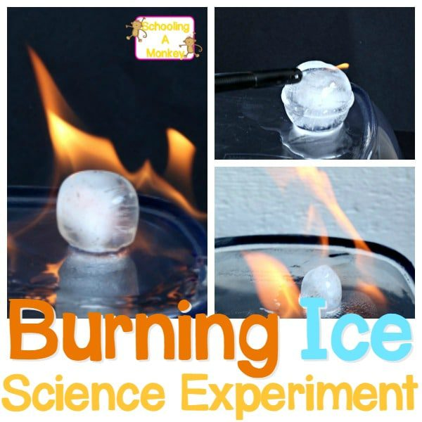Can you burn ice? In this ice science experiment and burning ice challenge, adults can demonstrate to kids that burning ice cubes can be used to demonstrate the ice on fire experiment explanation. Add this to your collection of fire science experiments.