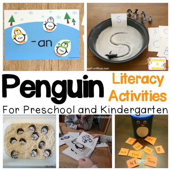 Teaching preschoolers or kindergartners? These penguin activities all focus on boosting literacy skills for preschooler and kindergarten kids.