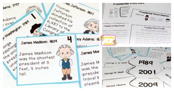 Kids in 3rd-5th grade will love learning about the presidents with these president worksheets! Kids will boost language arts skills and history together!