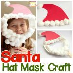 Santa Hat Craft: Make a Paper Plate Santa Face Mask!
