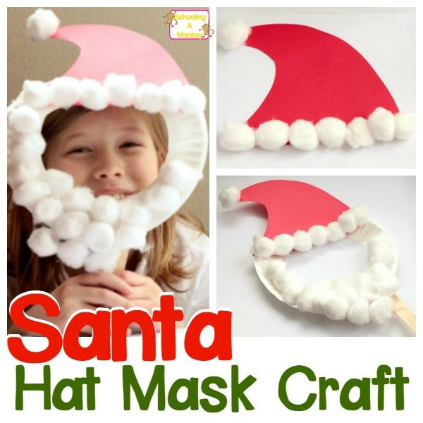 How to Make a Paper Plate Santa Mask