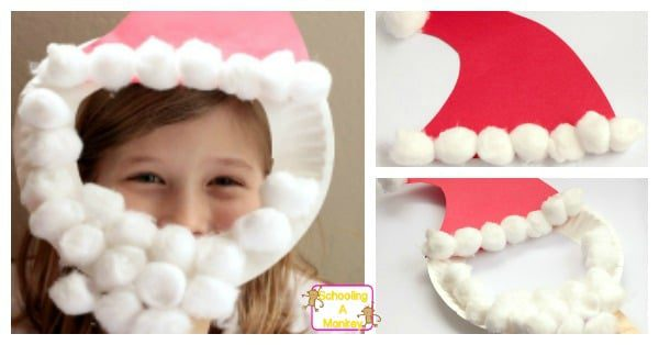 paper plate santa hats craft santa hat craft make a paper plate santa mask 7024