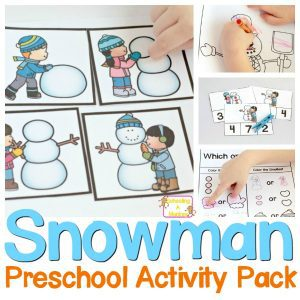Winter is the perfect time to learn with snowmen! Preschoolers will love these snowman-themed printables and teachers will love how they are print and go!