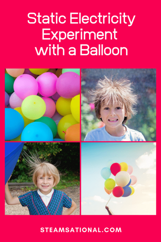 static electricity experiment with a balloon