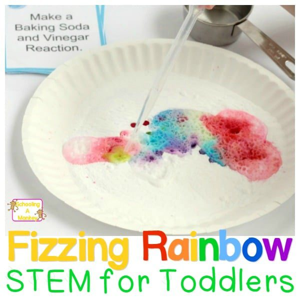 STEM Activities for Toddlers: Colorful Fizzing Rainbows
