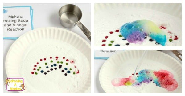 Rainbow Baking Powder And Vinegar Reaction