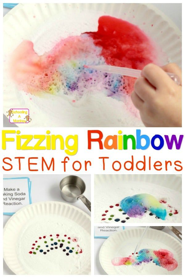 If you want to try STEM activities for toddlers and preschoolers, start with easy, fun things! These fizzing rainbows fit the bill perfectly and are easy! #toddleractivities #preschoolactivities #scienceexperiments #stemactivities
