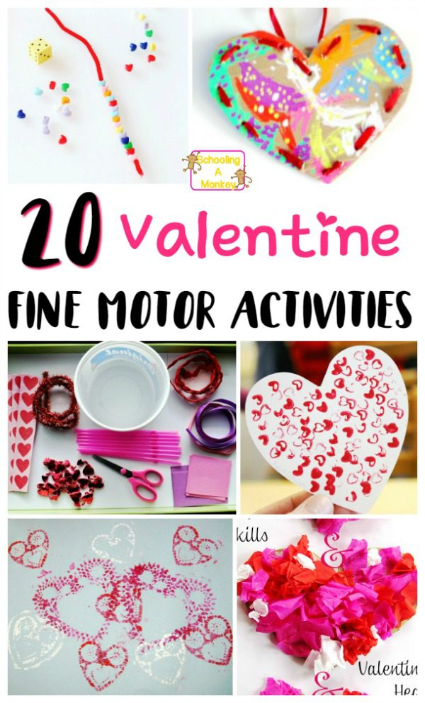 Make Valentine's Day special and educational for your toddlers and preschoolers with these Valentine's Day fine motor activities! Kids will love them!